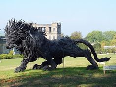Lion made of discarded tires by Ji Yong Ho.