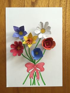 Egg carton flowers - an easy craft to make for Spring!