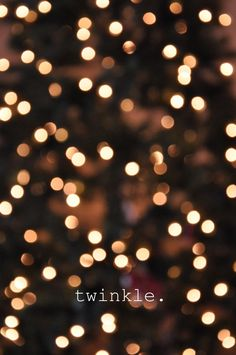 set camera to manual mode and make it blurry for a gorgeous twinkle effect.