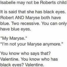 Isabelle Lightwood // TMI // The Mortal Instruments // Valentine // Maryse. Although, I DONT Believe in this theory, it is pretty clever.