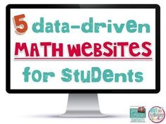 5 Data-Driven Math Websites for Students! These sites are perfect for math centers, classrooms and extra math practice at home. Websites For Students, School Websites, Math Coach, Fourth Grade Math, Math Intervention, Elementary Math, Upper Elementary, E Book, Math Practices