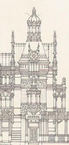 books n buildings — Otto Schmalz (German, 1861-1906), Design for a...