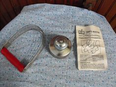 Vintage Androck Red Wooden Handle Pastry Blender by peacenluv72, $16.50