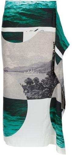 Dries Van Noten   Pattern Skirt