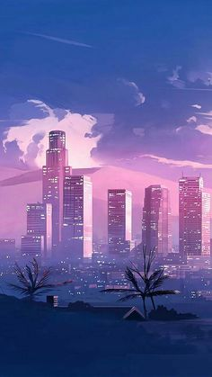 New wallpaper android art illustration phone wallpapers 29 ideas Wallpaper Pastel, Anime Scenery Wallpaper, City Wallpaper, Painting Wallpaper, Blue Wallpapers, Galaxy Wallpaper, Aesthetic Iphone Wallpaper, Aesthetic Wallpapers, Sky Painting