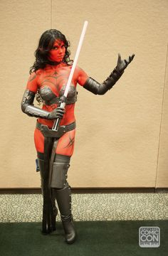 Darth Talon cosplay by Aspen Cosplay at Salt Lake Comic Con 2014. Body art by Sammie Bartko and Chris Richard Hanson.
