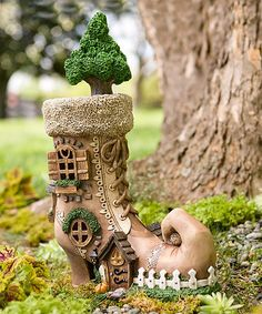 Loving this Fairy Shoe House Statue on #zulily! #zulilyfinds