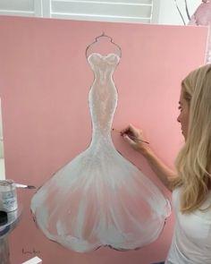 Kerrie Hess, Aquazzura, Mermaid Wedding, Pastels, Illustrator, Ice Cream, Wedding Dresses, Heels, Instagram