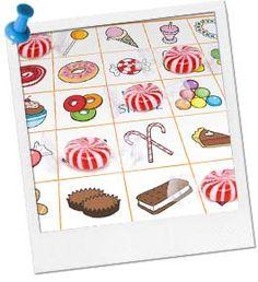 Free Bingo Games | Printable Bingo Game for Kids | Sweet Shop Bingo at Birthday in a Box