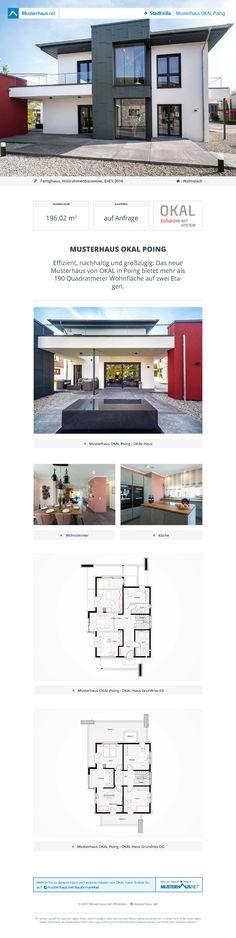 Stadtvilla mit Walmdach • Musterhaus OKAL Poing • OKAL Haus • Weitere Ansichten inkl. Grundrisse auf #Musterhaus.net!