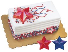 So perfect for patriotic cakes | Iridescent Star Layon from DecoPac
