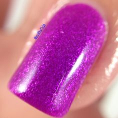 Macro of Top Shelf Lacquer Wild Orchid Cocktail @topshelflacquer