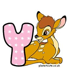 Planet Cute - Alphabet - Bambi - Image Bambi, Disney Letters, Cute Alphabet, Letters And Numbers, Winnie The Pooh, Pikachu, Disney Characters, Fictional Characters, Image