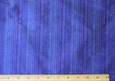 "Blue/Purple Dupioni Stripes 100% Silk Fabric 54"" Wide, By The Yard (SD-637B)"