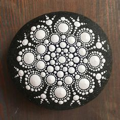 The Neutral Collection: Mandala Painted Stone Hand Painted Die neutrale Sammlung: Mandala Painted Stone Hand Painted This image has get. Dot Art Painting, Rock Painting Designs, Pebble Painting, Pebble Art, Stone Painting, Mandala Art, Mandala Painting, Mandala Painted Rocks, Mandala Rocks