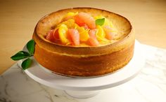 New York-Style Cheesecake with Orange-Grapefruit Syrup