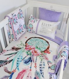 Dream Catcher Crib Bedding Awesome Dream Catcher And Arrows Custom Baby Bedding With Pink And Teal Design Ideas