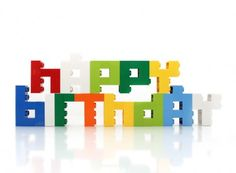"""Happy Birthday -  Mini Letters-Set """"happy birthday"""", 13-pc.  Size in inch: 1.5-Inch Size in cm per letter (max.): width: 29 mm, height: 40 mm, deep: 16 mm Features: Every single letter is glued! - CHF 32.50"""