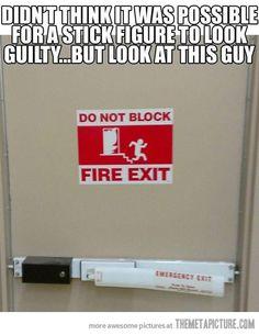 Guilty stick man…
