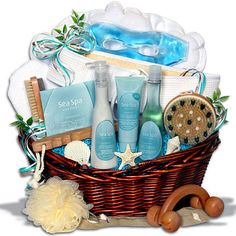 bath gift basket ideas   Creative Spa Gift Basket Ideas