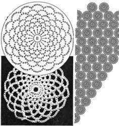 Crochet Diagram, Crochet Chart, Crochet Motif, Crochet Doilies, Crochet Stitches, Crochet Patterns, Patron Crochet, Crochet Tunic, Crochet Clothes
