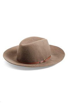 Hinge Faux Leather Trim Wool Felt Panama Hat | Nordstrom