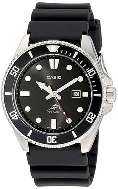 c5c66972ac5 Casio Men s MDV106-1A Black Analog Anti Reverse Bezel Watch  Casio  Amazon.