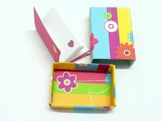 Mini scatolina + mini notebook primavera di OkkinoShop su DaWanda.com
