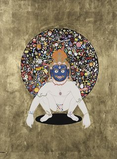 Click to enlarge image OhMyGodness.png CONTEMPORARY TIBETAN THANGKA PAINTINGS BY TSHERIN SHERPA
