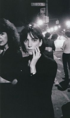 Patti Smith outside CBGB photographed by Godlis, 1976