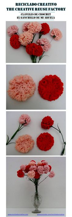 Claveles de ganchillo o crochet https://youtu.be/-uN709KwmT4