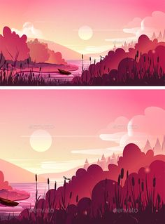 Landscape, Nature Vector Background by VitaliyVill Landscape, nature vector background. vector illustration for your application , project File include: EPS (10), AI, JPG. PNG
