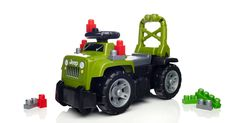 Your little 4x4 fan can take his imagination off-road and ride with the legendary Jeep 3-in-1 Ride-On by Mega Bloks! The Jeep 3-in-1 Ride-On features iconic colors and design, with easy push-button controls that mimic real Jeep sounds and create an exciting ride for kids. The high-back seat turns the Ride-On into a walker that can easily be pushed from behind. Open the seat to reveal a storage compartment that can hold all 10 First Builders Jeep-themed blocks and more. Ideal for active ...