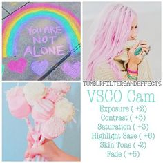 Vsco filter  Type pastel Best with anything colorful and bright - - - #vsco…