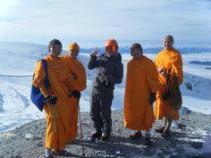 Kleine Matterhorn meet-up with monks