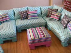 Exceptional Dollhouse Furniture Sectional Pieces. Make The Sofa In The Configuration  They Want. Change It
