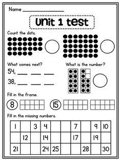 First grade math unit number sense, counting forward, ten frames (and more! Preschool Math, Math Classroom, Kindergarten Math, Teaching Math, Maths, Classroom Birthday, Math Math, Math Fractions, 1st Grade Math