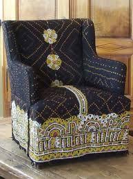 Upholstered with Rabari wedding shawl