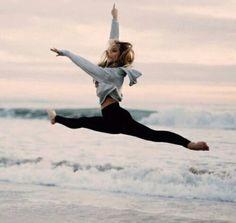 Praia+ballet=❤