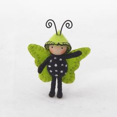 Important- This is a pre-order item. It will ship 5-7 days after purchase. This is a sweet 1 1/2 inch Tiny Butterfly. It is made of wire covered in
