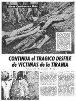 Facsímil de la página de BOHEMIA del 1 de febrero de 1959, donde se publicó el hallazgo de siete cadáveres en la localidad de Cabañas, provincia de Pinar del Río