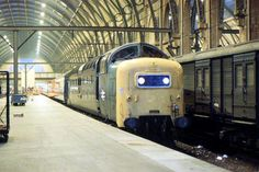 55008 'The Green Howards' at Kings Cross on Aug (Robert Peach) Electric Locomotive, Diesel Locomotive, Train Stations, British Rail, World Pictures, The World's Greatest, 21st, Around The Worlds, Peach