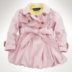 baby girl polo pink trench coat.....my child will have this