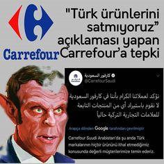 """Instagram'da Kenan Gümüş: """"↘""""Türk ürünlerini satmıyoruz""""↙ 🔴açıklaması yapan Carrefour'a tepki.. 🔴Suudi Arabistan'ın ve Fransızların Türk düşmanlığı devam…"""""""