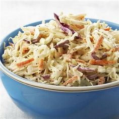 A favorite coleslaw with just the right amount of seasoning. Perfect for fish tacos!