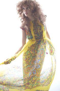 yellow paisley