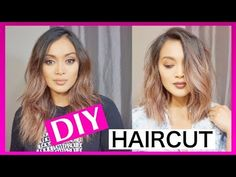 I finally did an updated hair cutting tutorial video! I have been cutting my own hair for years and decided to do a video on how I cut my hair now. Cut Own Hair, Cut Hair At Home, How To Cut Your Own Hair, Cut Hair Diy, Diy Hair Layers, Diy Hair Trim, Medium Hair Cuts, Long Hair Cuts, Medium Hair Styles