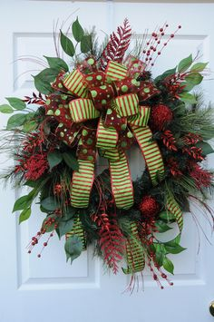 Red and Green Sparkle Wreath