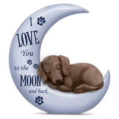 I Love You To The Moon And Back #dachshund Figurine