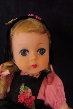 """Beautiful Madame Alexander Alexander 1957 12"""" Lissy Doll in RARE Outfit 